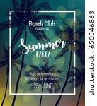 vector illustration of summer... | Shutterstock .eps vector #650546863