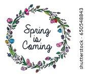 spring doodle design   Shutterstock .eps vector #650548843