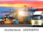industrial logistics containers ... | Shutterstock . vector #650548993