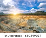 aerial view of opencast mining... | Shutterstock . vector #650549017