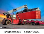 industrial logistics containers ... | Shutterstock . vector #650549023