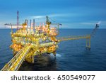 industrial offshore oil and gas ... | Shutterstock . vector #650549077