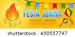 festa junina banner with... | Shutterstock .eps vector #650557747