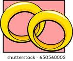 wedding rings | Shutterstock .eps vector #650560003