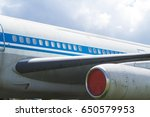 portholes in the plane.  | Shutterstock . vector #650579953