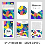 abstract vector layout... | Shutterstock .eps vector #650588497