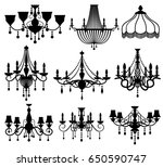 classic crystal glass antique... | Shutterstock .eps vector #650590747