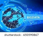 internet bigdata communication. ... | Shutterstock . vector #650590867