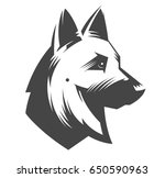 German Shepherd Head   Vector...