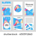 abstract vector layout... | Shutterstock .eps vector #650591863