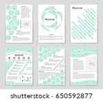 abstract vector layout... | Shutterstock .eps vector #650592877