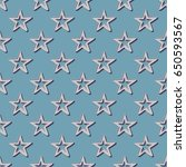 retro stars pattern. abstract... | Shutterstock .eps vector #650593567