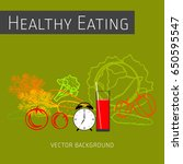concept of healthy eating ... | Shutterstock .eps vector #650595547