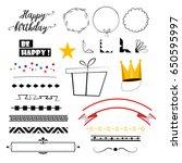 birthday invitation greeting... | Shutterstock .eps vector #650595997