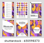 abstract vector layout... | Shutterstock .eps vector #650598373