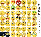 smile icons | Shutterstock .eps vector #650598427