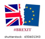 brexit hashtag two parts of... | Shutterstock .eps vector #650601343