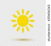 yellow graphic sun icon... | Shutterstock .eps vector #650606263