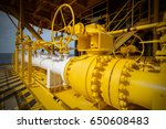 manual operate ball valve at... | Shutterstock . vector #650608483