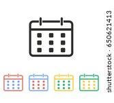 calendar vector icon.... | Shutterstock .eps vector #650621413