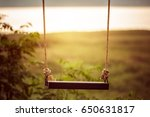 children swing in the park ... | Shutterstock . vector #650631817