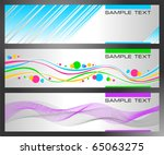 set of horizontal abstract... | Shutterstock .eps vector #65063275