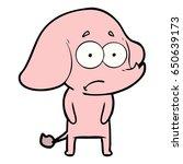 cartoon unsure elephant   Shutterstock .eps vector #650639173