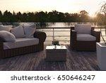 3d rendering of wooden jetty... | Shutterstock . vector #650646247