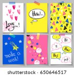 set of abstract creative cards... | Shutterstock .eps vector #650646517
