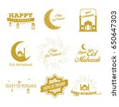 vector illustration of eid... | Shutterstock .eps vector #650647303