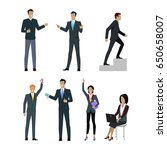 set of people managers wishing...   Shutterstock . vector #650658007