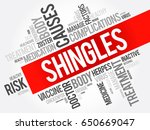 shingles word cloud collage ... | Shutterstock . vector #650669047