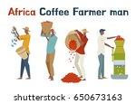 africa coffee farmer man... | Shutterstock .eps vector #650673163