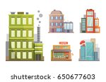 flat design of retro and modern ... | Shutterstock .eps vector #650677603