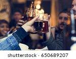 craft beer booze brew alcohol... | Shutterstock . vector #650689207