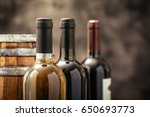 expensive wine bottles... | Shutterstock . vector #650693773