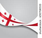 georgian flag wavy abstract... | Shutterstock . vector #650708533