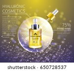 bottle cosmetics with... | Shutterstock .eps vector #650728537