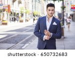 young handsome businessman... | Shutterstock . vector #650732683