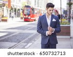 young handsome businessman... | Shutterstock . vector #650732713