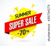 summer super sale banner | Shutterstock .eps vector #650734273