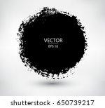 Grunge circle,round frame. Vector grunge banner.