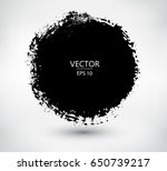grunge circle round frame.... | Shutterstock .eps vector #650739217