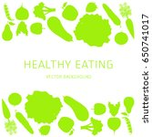 concept of a healthy diet ... | Shutterstock .eps vector #650741017