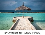 the end of the pier  ellaidhoo... | Shutterstock . vector #650744407