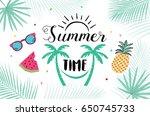 summer hand drawn illustrations ... | Shutterstock .eps vector #650745733
