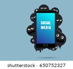 social media at risk  something ... | Shutterstock .eps vector #650752327