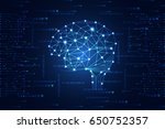 abstract technology science... | Shutterstock .eps vector #650752357