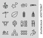 tree icons set. set of 16 tree... | Shutterstock .eps vector #650752867
