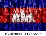 flag of cambodia | Shutterstock . vector #650753047